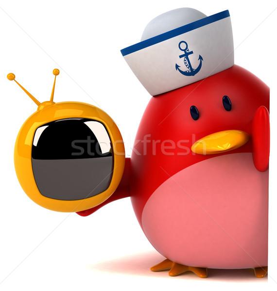 красный птица 3d иллюстрации оранжевый груди экране Сток-фото © julientromeur