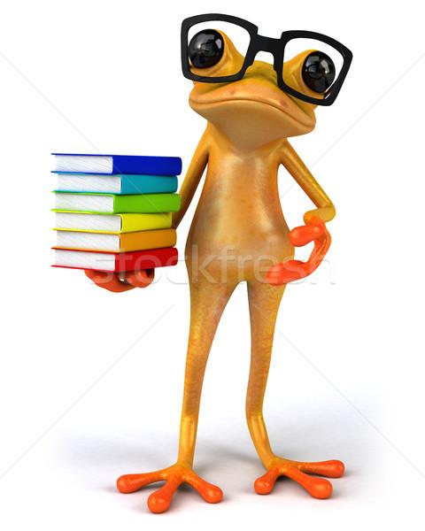 Stok fotoğraf: Eğlence · kurbağa · okul · turuncu · tropikal · öğrenme