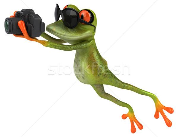 Jókedv béka technológia digitális állat kép Stock fotó © julientromeur
