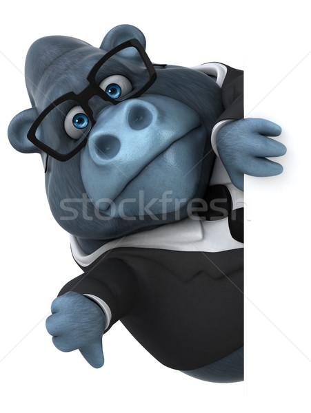 Jókedv gorilla 3d illusztráció üzlet természet üzletember Stock fotó © julientromeur