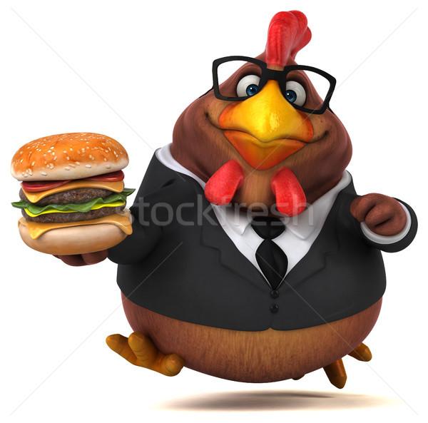 Zabawy kurczaka 3d ilustracji ptaków garnitur finansów Zdjęcia stock © julientromeur