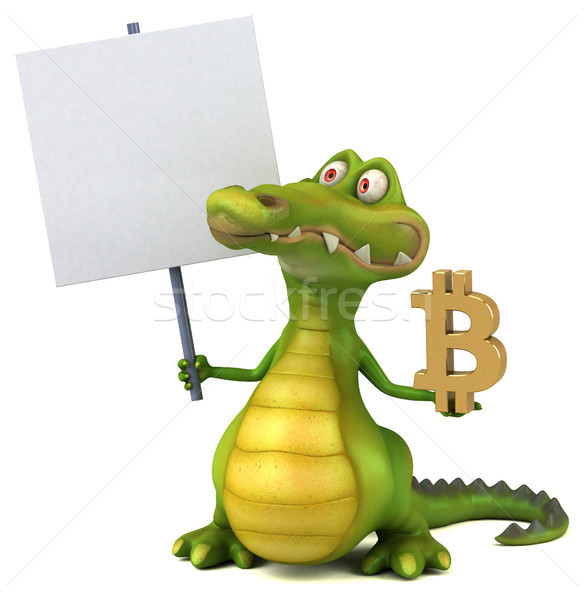 Fun crocodile - 3D Illustration Stock photo © julientromeur
