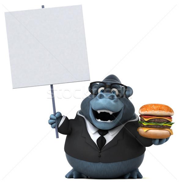 Zabawy goryl 3d ilustracji garnitur zwierząt shirt Zdjęcia stock © julientromeur