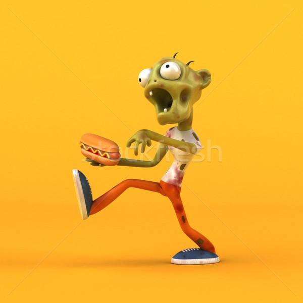 Leuk zombie 3d illustration man dood dode Stockfoto © julientromeur