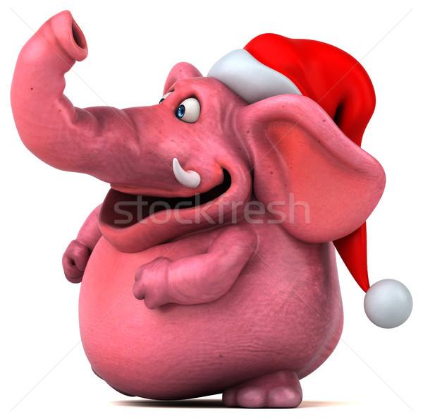 Rose éléphant 3d illustration bière fou animaux Photo stock © julientromeur