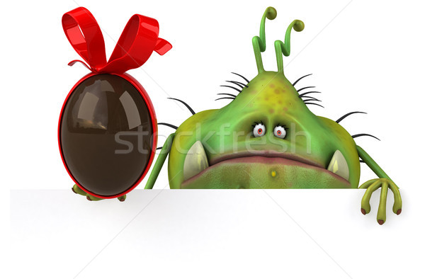 Leuk kiem 3d illustration gezondheid chocolade cartoon Stockfoto © julientromeur