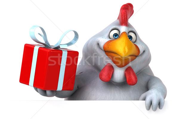Zabawy kurczaka 3d ilustracji projektu ptaków dar Zdjęcia stock © julientromeur