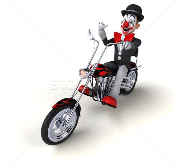 Leuk clown 3d illustration ontwerp reizen snelheid Stockfoto © julientromeur