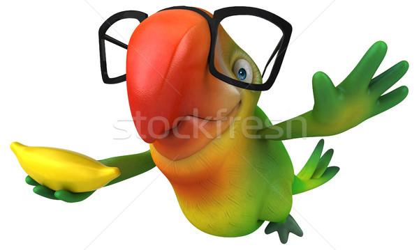 Spaß Papagei Auge Obst Vogel grünen Stock foto © julientromeur