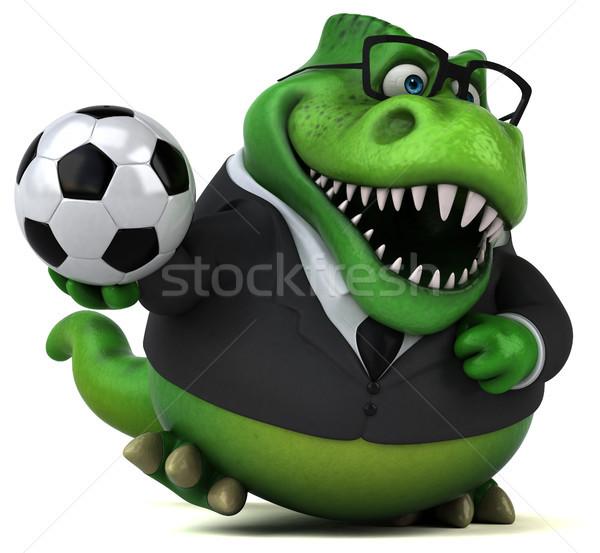 Eğlence 3d illustration iş futbol futbol işadamı Stok fotoğraf © julientromeur