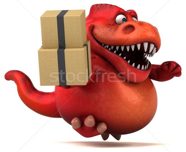 Foto stock: Diversão · dinossauro · ilustração · 3d · dentes · animal · história