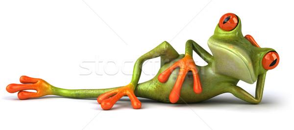 Zabawy żaba charakter zielone zwierząt środowiska Zdjęcia stock © julientromeur