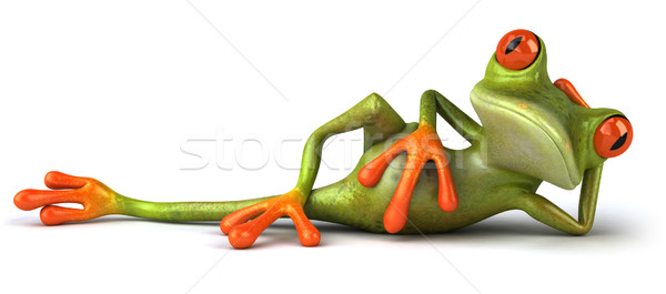 Leuk kikker natuur groene dier milieu Stockfoto © julientromeur