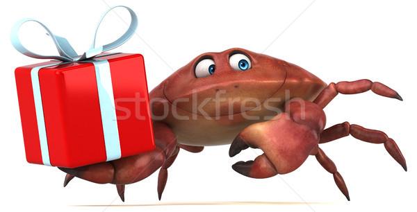 Distracţie crab ilustrare 3d alimente cadou alb Imagine de stoc © julientromeur