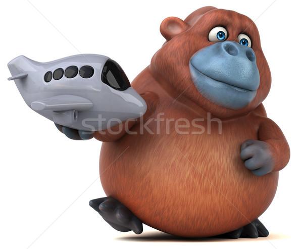 Jókedv 3d illusztráció természet repülőgép Afrika majom Stock fotó © julientromeur