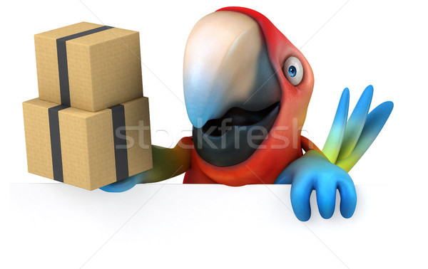 Spaß Papagei Auge Vogel grünen Dschungel Stock foto © julientromeur
