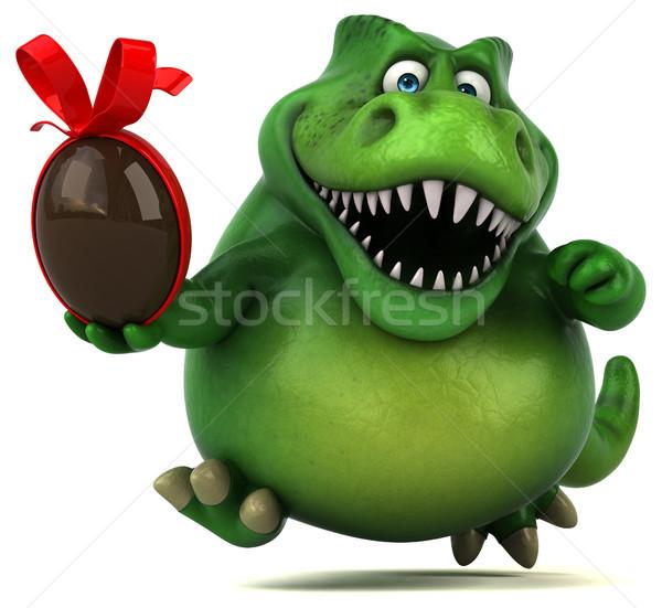 Diversão dinossauro ilustração 3d chocolate dentes animal Foto stock © julientromeur