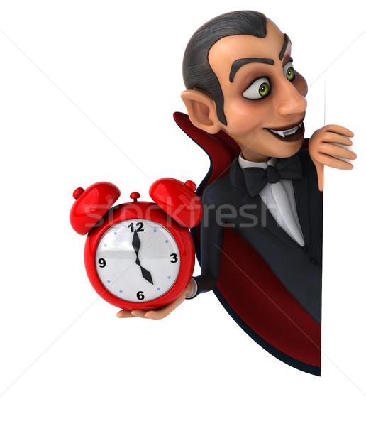 вампир часы искусства рот губ черный Сток-фото © julientromeur
