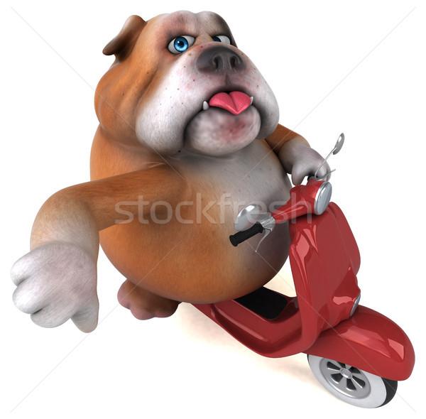 Diversão buldogue ilustração 3d cão projeto modelo Foto stock © julientromeur