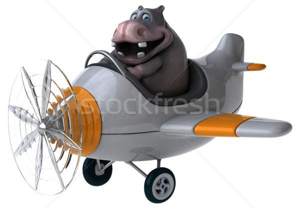 Eğlence suaygırı 3d illustration uçak düzlem yağ Stok fotoğraf © julientromeur