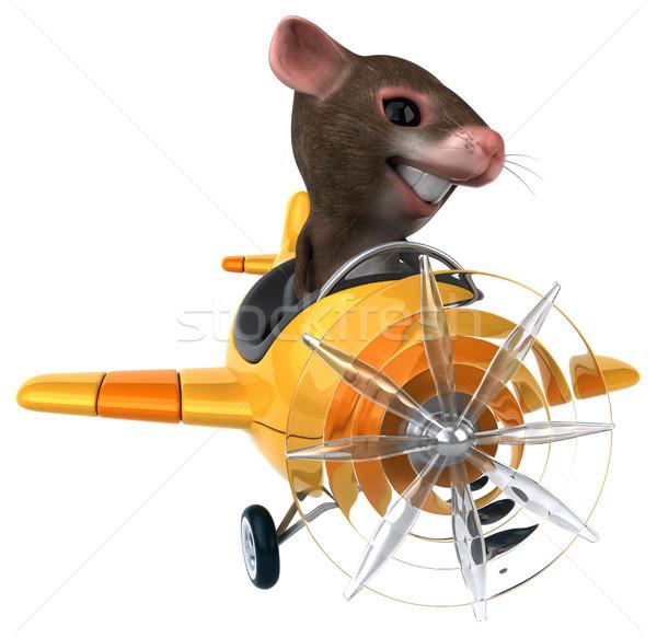 Eğlence fare uçak komik hayvan hava Stok fotoğraf © julientromeur