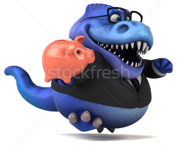 Jókedv 3d illusztráció üzletember pénzügy fogak állat Stock fotó © julientromeur