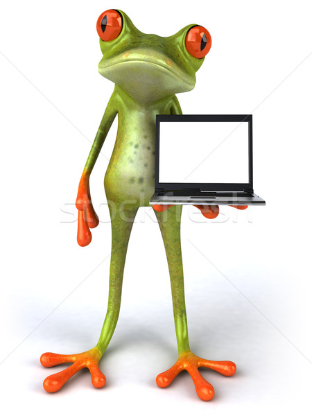 Frog and laptop Stock photo © julientromeur