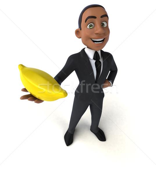 Leuk zakenman pak jongen succes banaan Stockfoto © julientromeur