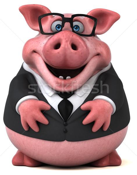 весело свинья 3d иллюстрации бизнеса бизнесмен жира Сток-фото © julientromeur