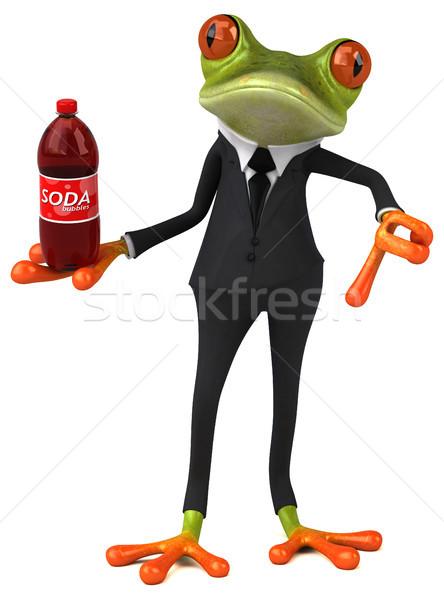 весело лягушка бизнеса глаза природы пить Сток-фото © julientromeur