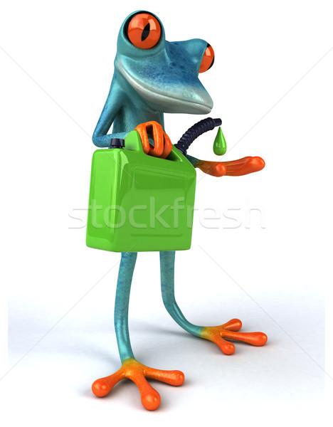Сток-фото: весело · лягушка · нефть · тропические · бензин · 3D