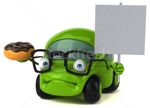 Leuk auto 3d illustration weg metaal snelheid Stockfoto © julientromeur