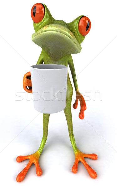 Frog and cup Stock photo © julientromeur
