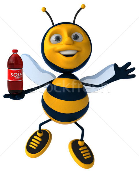 Zabawy Pszczoła pić pracownika miodu anteny Zdjęcia stock © julientromeur