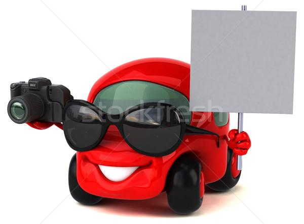 Eğlence araba 3d illustration yol trafik fotoğraf Stok fotoğraf © julientromeur