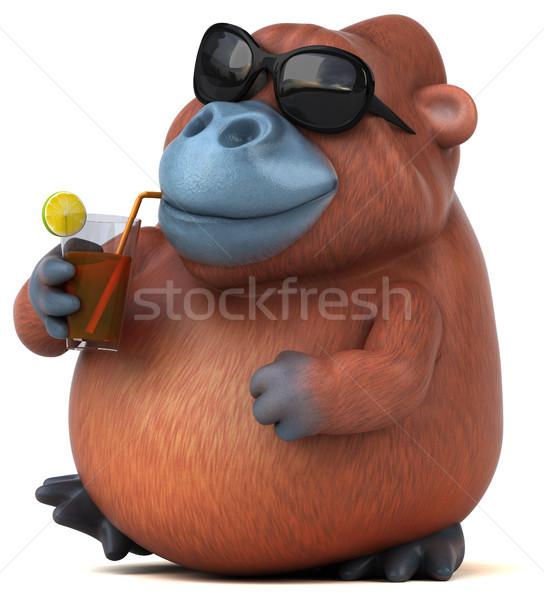 Eğlence orangutan 3d illustration doğa seyahat Afrika Stok fotoğraf © julientromeur