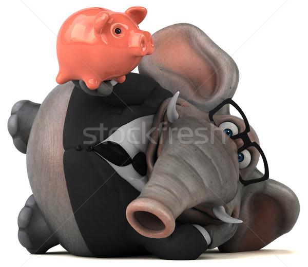 Jókedv elefánt 3d illusztráció üzlet öltöny Afrika Stock fotó © julientromeur