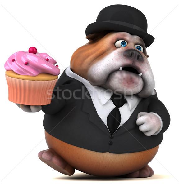 Zabawy bulldog 3d ilustracji działalności psa garnitur Zdjęcia stock © julientromeur