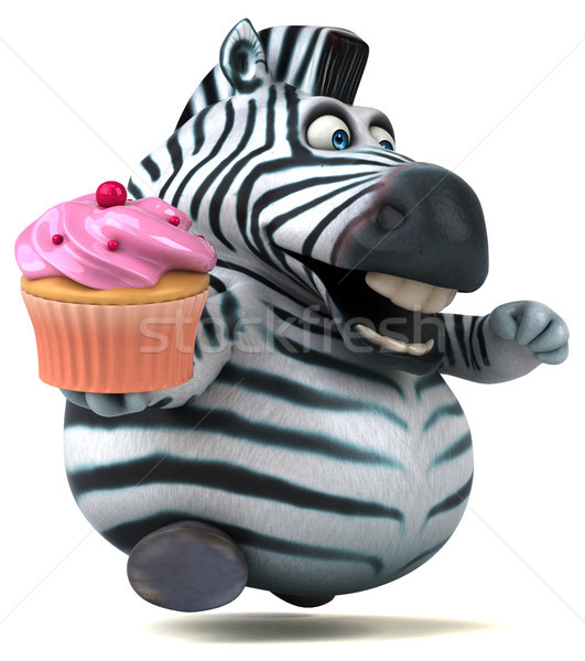 Zabawy zebra 3d ilustracji Afryki zwierząt deser Zdjęcia stock © julientromeur