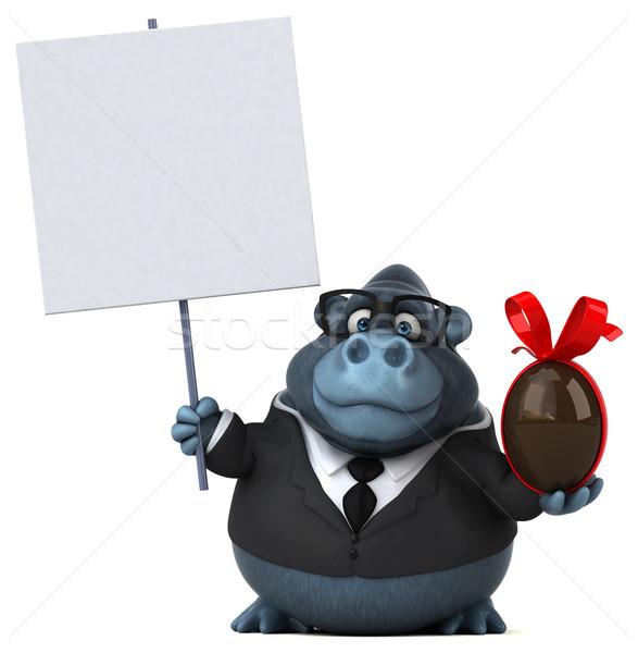 Jókedv gorilla 3d illusztráció csokoládé öltöny vicces Stock fotó © julientromeur