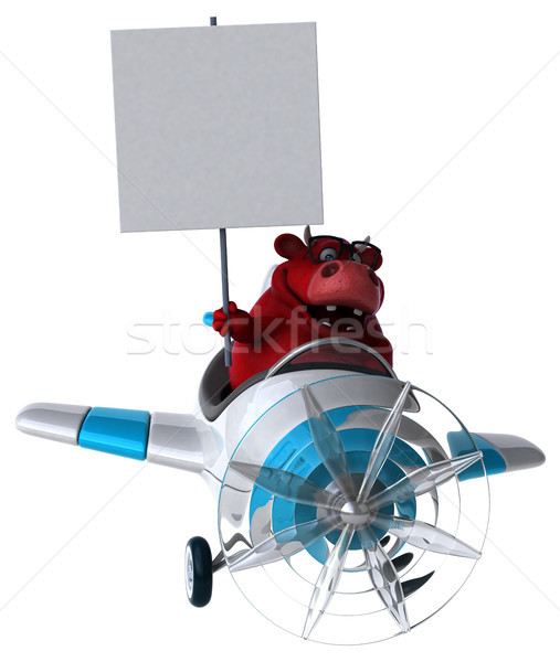 Fun red bull - 3D Illustration Stock photo © julientromeur