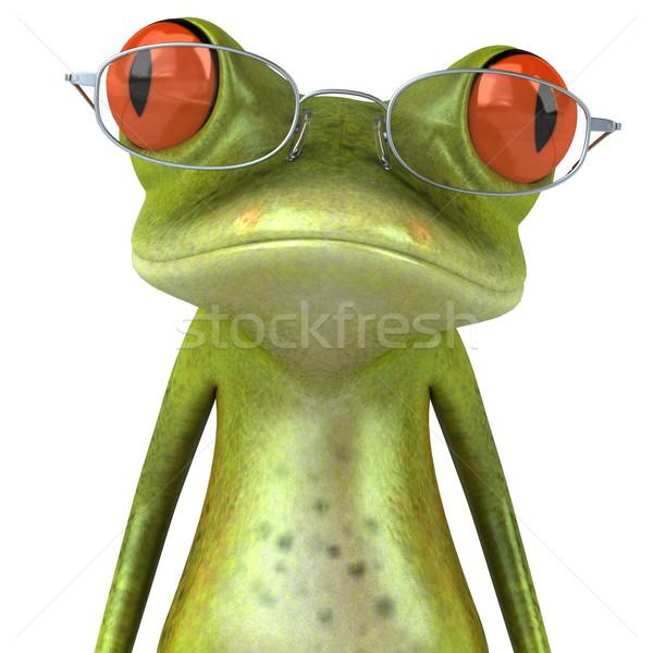 Сток-фото: лягушка · очки · зеленый · животного · среде · иллюстрация
