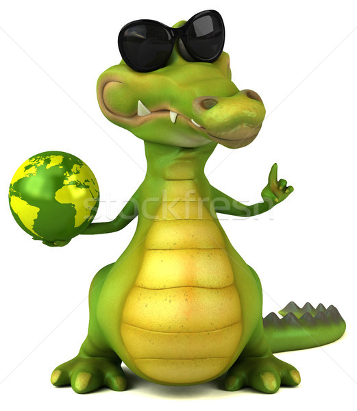 Krokodil eğlence mutlu dizayn dünya sanat Stok fotoğraf © julientromeur