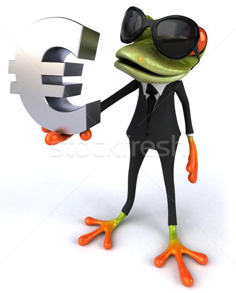 Zabawy żaba oka charakter biznesmen garnitur Zdjęcia stock © julientromeur