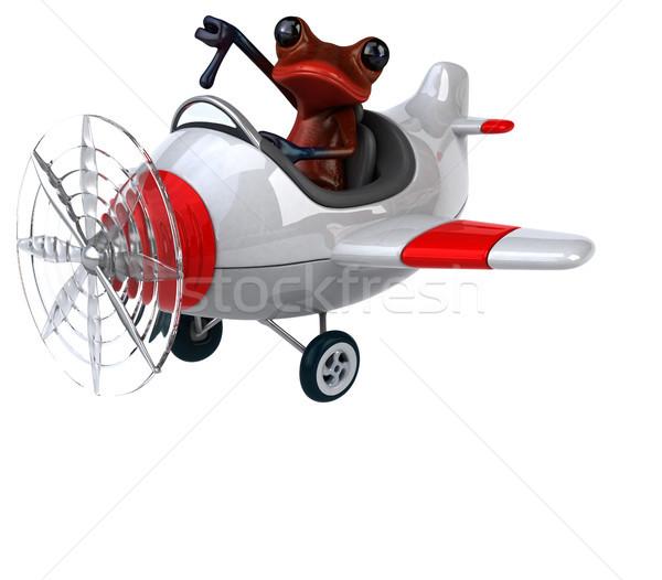 Jókedv béka 3d illusztráció szem trópusi pilóta Stock fotó © julientromeur