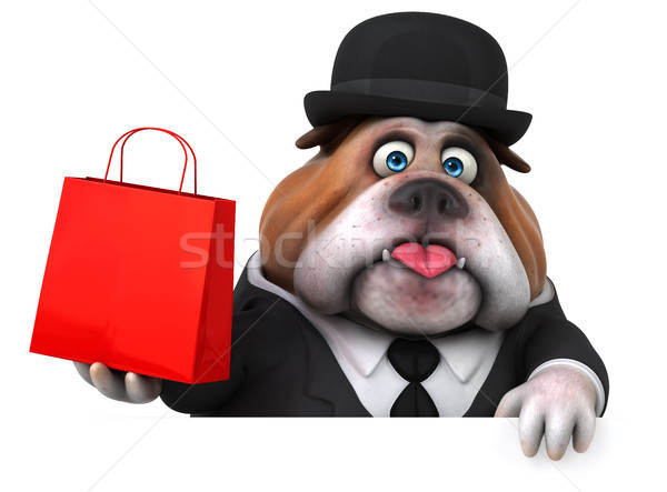 Fun bulldog - 3D Illustration Stock photo © julientromeur