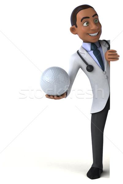 Amusement médecin golf médicaux coeur science Photo stock © julientromeur