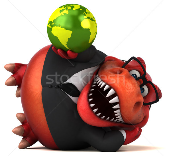 Fun Trex - 3D Illustration Stock photo © julientromeur