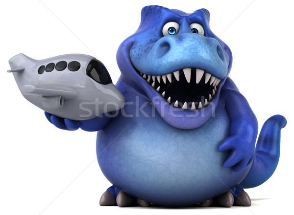 Diversão dinossauro ilustração 3d viajar dentes voar Foto stock © julientromeur