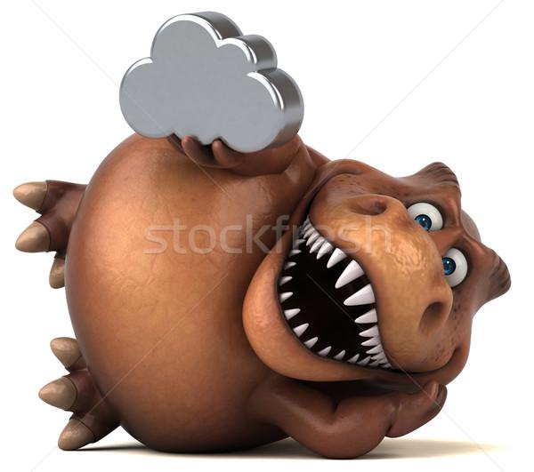 Stok fotoğraf: Eğlence · 3d · illustration · dişler · bulut · hayvan · tarih